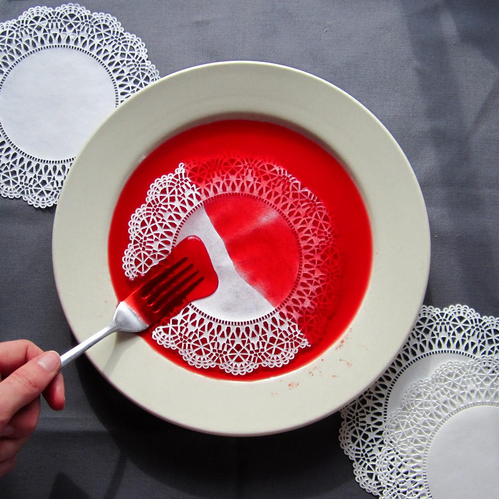 Gently lower the first doily ... & Quick Dye Doilies \u2013 Hew \u0026 Sew